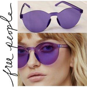 Free People vibrant tinted sunglasses